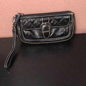 Talbots genuine leather clutch